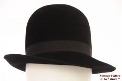Ladies hat black velvet 56