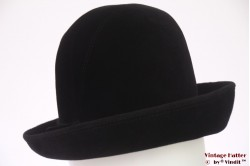 Ladies hat black velour 56