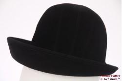 Ladies hat black velour 56