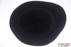 Ladies fedora black velvet 56