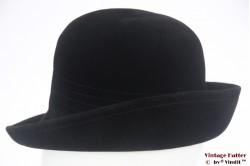 Ladies hat Heimann black velour 55-56