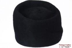 Ladies cocktail hat black fur felt 56