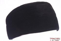 Ladies cocktail hat black velvet 58-59 (L)