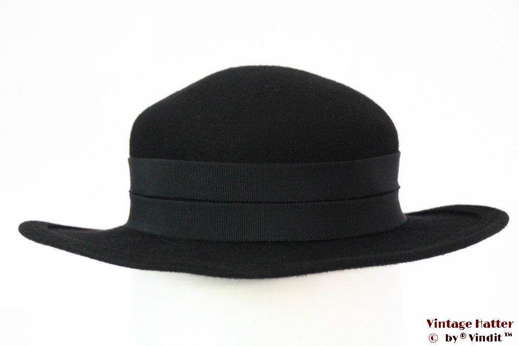 Ladies hat black felt 53 (XXS)