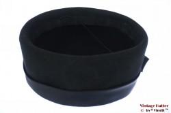 Ladies coctail hat black felt 55 (S)