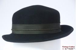 Ladies hat Ischler Hut black felt 55,5 (S)