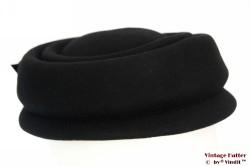 Cocktail hoed zwart vilt 56
