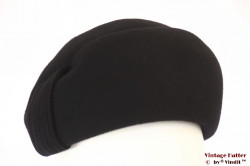 Ladies cocktail hat black felt 57