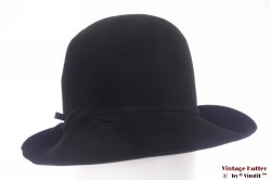 Ladies hat Touriste black thin felt 57