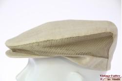 Summer flatcap Marchio di Qualtia ecru cotton mesh 54 (XXS)