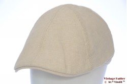 Preshaped flatcap Hawkins beige linnen cotton 61 (XXL) [new]