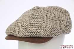 Paperboy cap Hawkins beige countrystyle tweed 61 [new]