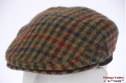 Flatcap greenish tweed wool 54 (XS)