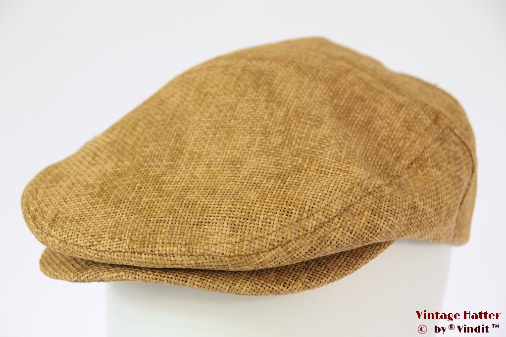 Summer flatcap Brixton Hooligan Straw Snap Cap beige 58 [New Sample]