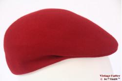 Flatcap red woolfelt 55,5 - 56 (S)