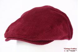 Flatcap Brixton Cardinal snapcap burgundy purple corduroy 59 [New Sample]