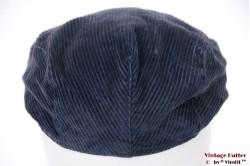 Flatcap blue corduroy 56