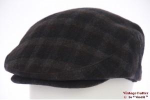 Flatcap dark blue and brown 58