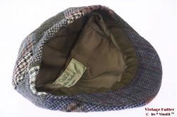 Flatcap Quills blue grey wool tweed patchwork 57