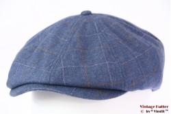 Paperboy pet Brixton Brood blauw met drukknoop 58 (M) [Nieuwe Sample]