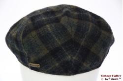 Flatcap Stetson blue green plaid with earwarmer 59