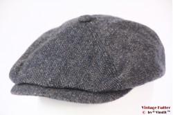 Paperboy cap Stetson Harwinton Woolrich blue herringbone 59