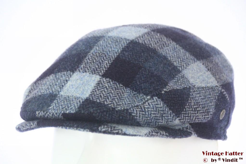 Flatcap Wegener blue wool with earwarmer 56