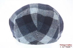Flatcap Wegener blue wool with earwarmer 56