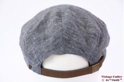 Flatcap Brixton Seth light blue snapcap white linnen/cotton 56-61 [New Sample]