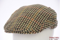 Flatcap Failsworth beige green tweed 58