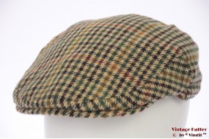 Flatcap Failsworth beige green tweed 58