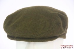 Flatcap moss green with earwarmer 56