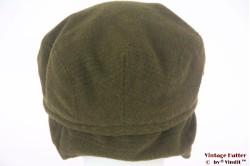 Flatcap moss green with earwarmer 56