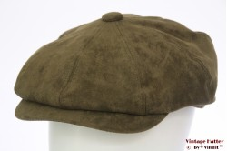 Paperboy cap Hawkins green faux suede 58 [new]