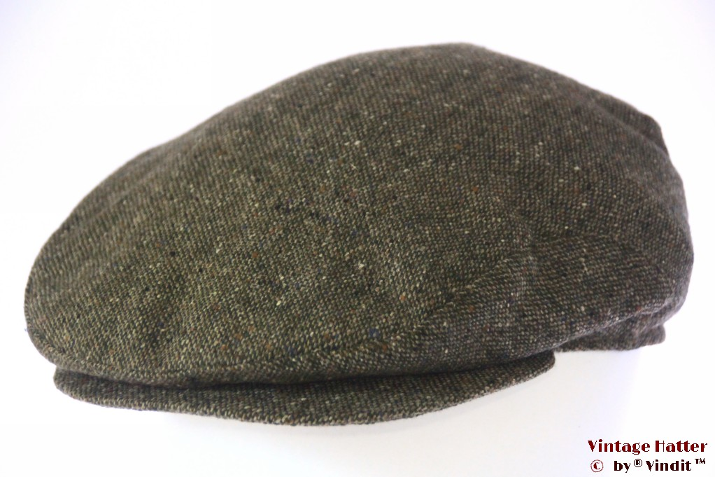 Flatcap Modus green tweed with earwarmer 57