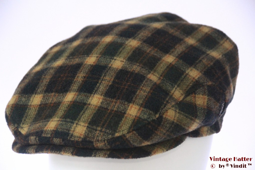 Flatcap Wegener green beige black with earwarmer 60 (XL)