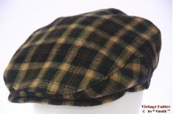 Flatcap Wegener green beige black with earwarmer 60 (XL)