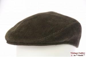 Flatcap Canda dark green corduroy 56