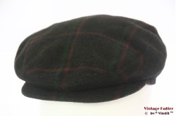 Flatcap Portaluri Tessuto green wool with earwarmer 59