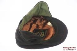 Flatcap Portaluri Tessuto green wool with earwarmer 59