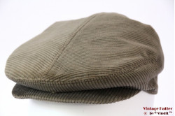 Flatcap grey corduroy with snap fastner 57