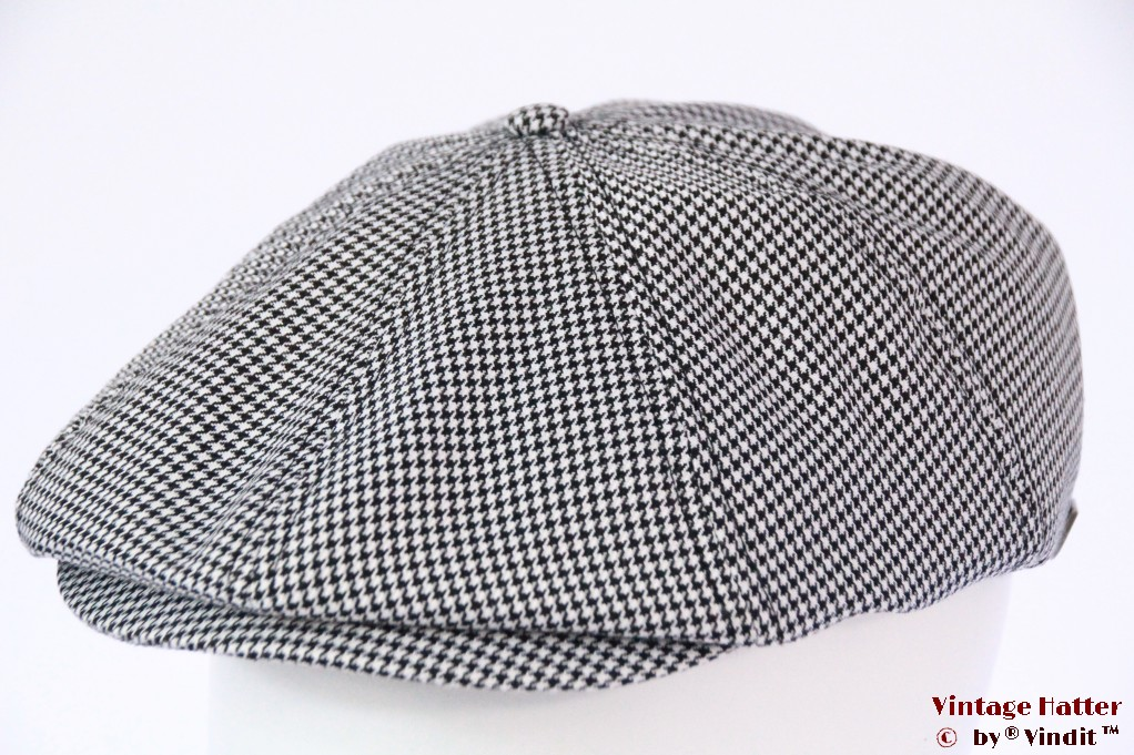 Paperboy snapcap Brixton Brood grey dogtooth 58 [New Sample]