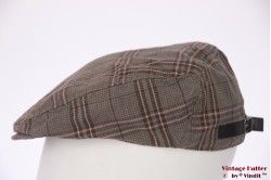 Flatcap grey with pink and orange cotton 58