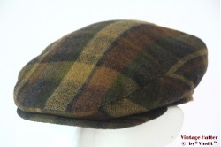 Flatcap Wegener brown green with earwarmer 56