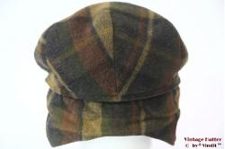 Flatcap Wegener brown green with earwarmer 56