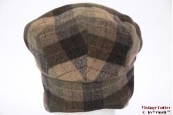 Flatcap BestQuality beige brown with earwarmer 56,5