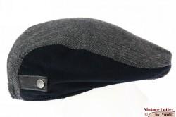 Platte pet grijs vissengraat zwart ribfluweel 51-54 (XXXS)