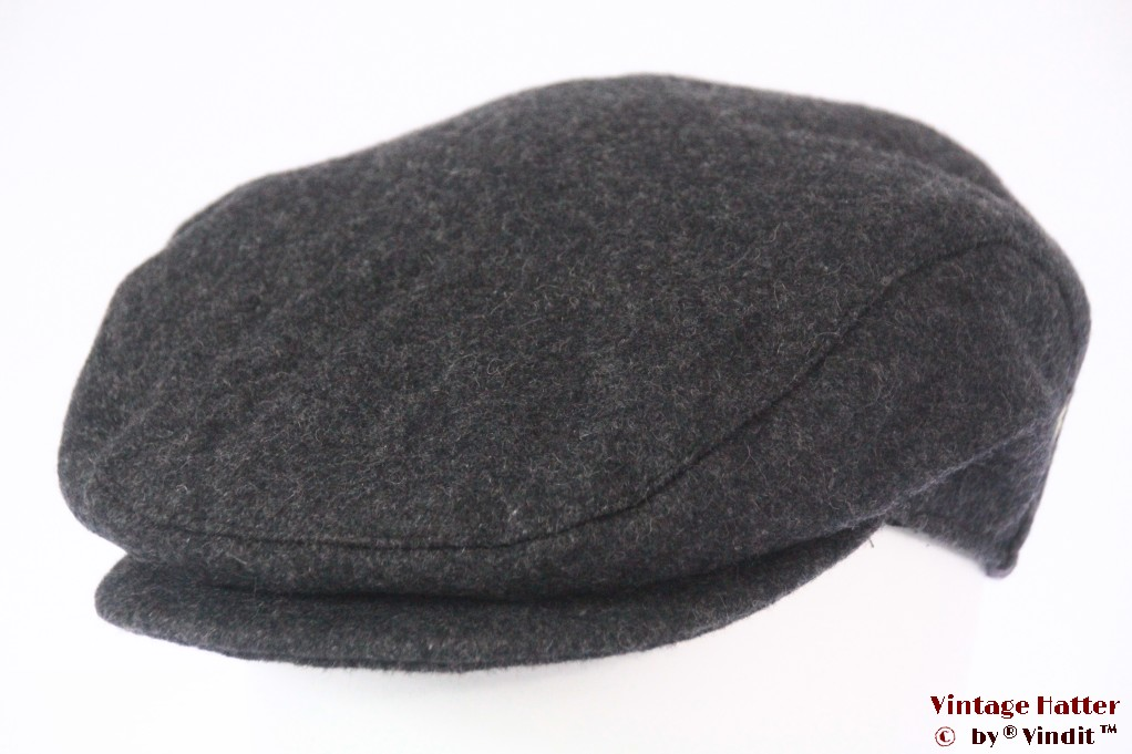 Flatcap JB grey with earwarmer windstopper 58