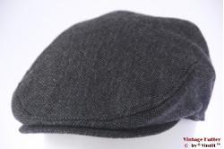 Platte pet TCM grijs vissengraat met oorwarmer 59 (L)
