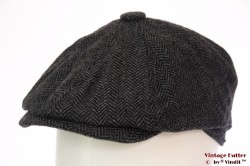 Paperboy cap Hawkins dark grey herringbone 54 -56 [new]